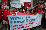 Nurses on march demanding that the Detroit Water and Sewage Dept. turn back on the water to its residents.