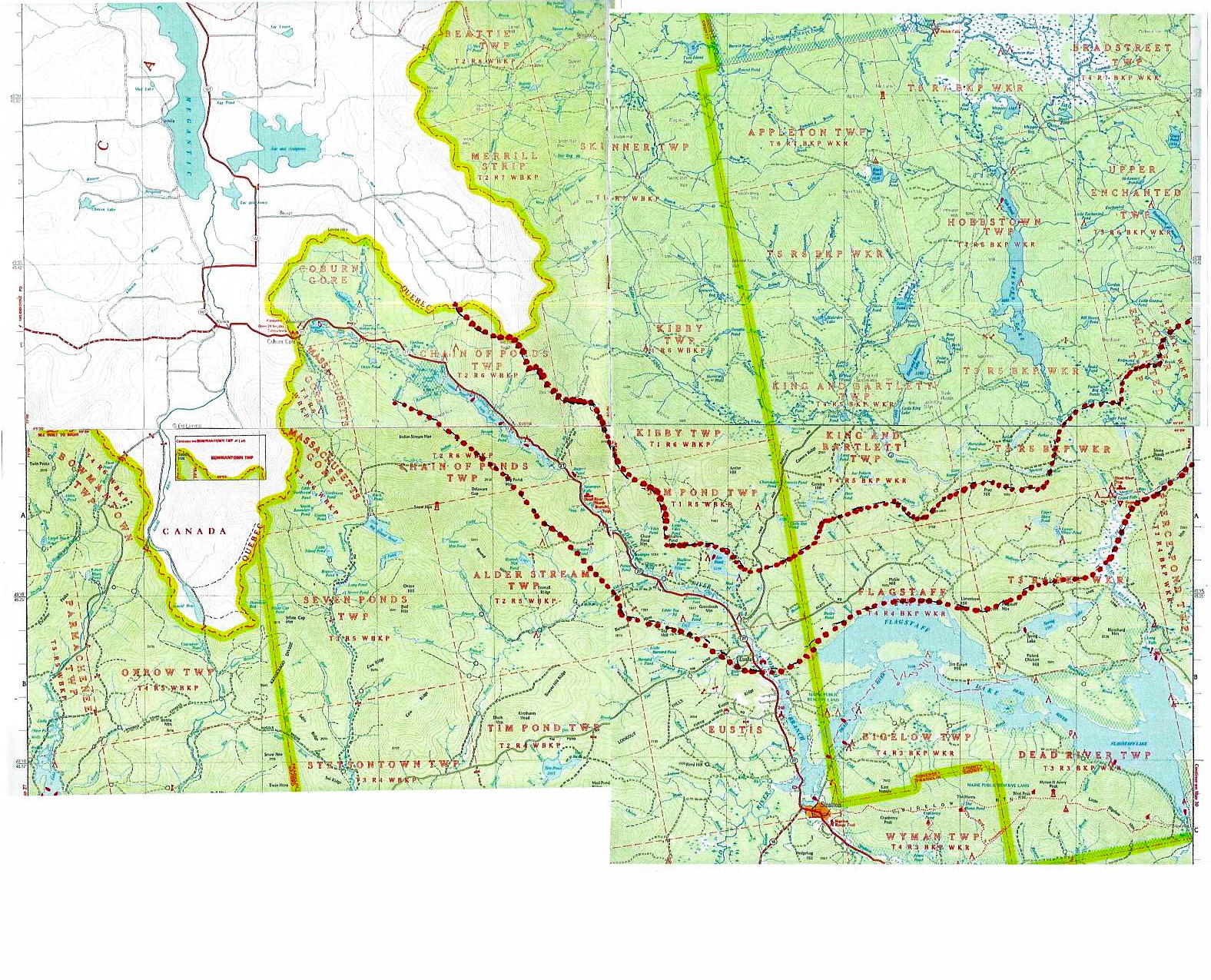Regional Map The Forks to Coburn Gore Defending Water for Life in